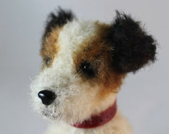 Jack Russell Puppy - PDF sewing pattern for a mohair dog