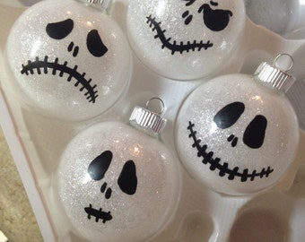 Glow In The Dark Jack Ornaments