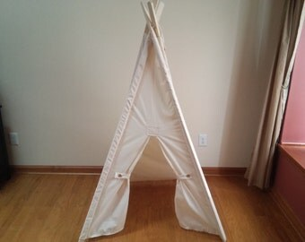 Natural kids Tent 36 inch play space  kids fort play tent cream teepee