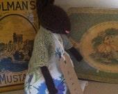 "RESERVED for Karen. Hand knitted Rabbit. ""Miffy"" Baby Alpaca."
