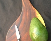 "Hawaiian Monkey Pod Paddle Shaped Cutting and Serving Board 18"" x 9"""