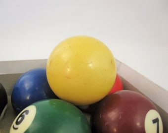 Bakelite Cue Ball - Billiards History - Pool Ball History - A Bakelite Cue Ball - Historic Pool Ball - Deep, Rich Yellow Color