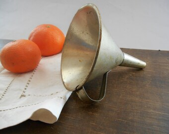 Vintage funnel Metal Funnel Primitive kitchen utensil Farmhouse Kitchen