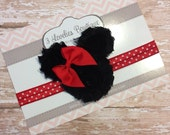 Minnie Mouse Baby Headband..Minnie Mouse Headband..Baby Headband..Headband..1st Birthday..Baby Girl