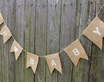 """Baby Shower Bunting. """"OH BABY"""" with Heart. Baby Shower Banner. Birth Announcement. Maternity Shoot. Newborn Photo Prop. Various Colours."""