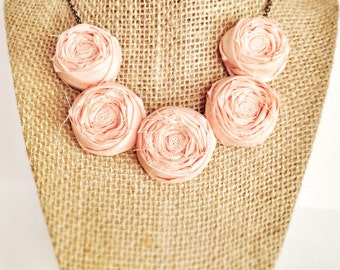 Peach Tea Rosette Necklace
