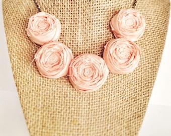 Peach Tea Rosette Necklace