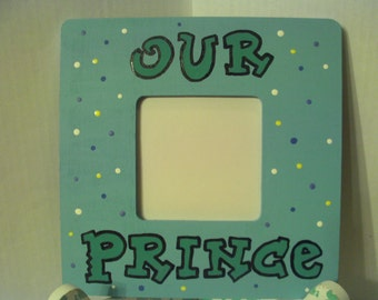 Our Prince Picture Frame Boy Light Turquoise Blue