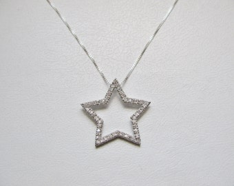 Star CZ Pendant 925 Sterling Silver