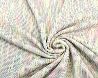 Yellow Blue Green Fiesta Knit Fabric - 1 Yard Style 6375