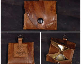 Unique: Small Wallet in cognac leather