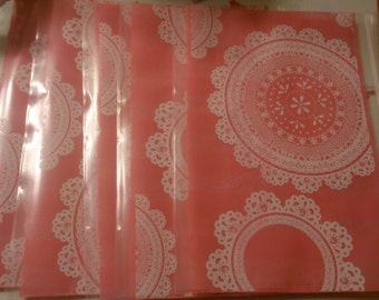 "Daiso Japan zipper closure bags, set of 5, measurements 7.9"" x 5.5"", beautiful patterns, patterns will vary."