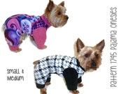 Dog Pajama Onesie Pattern 1745 * Small & Medium * Dog Clothes Sewing Pattern * Dog Pajamas Pattern * Dog Onesies * Dog PJs * Dog Apparel