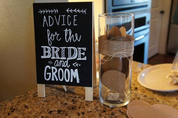 Advice For The Bride And Groom Chalk & Dry Erase Board Easel