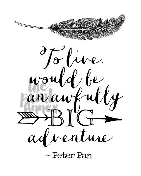 Peter Pan Quotes: Peter Pan Quote Nursery Art Printable Black And White To