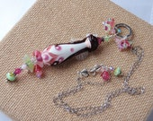 Cherry Blossom Doll Necklace; Spring Necklace; Floral Necklace