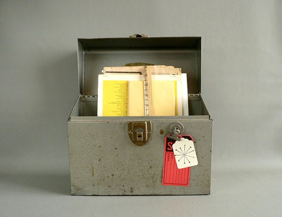 Industrial Portable Storage : Industrial file storage portable case by longsince on etsy