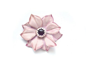 Pink Flower Brooch / Flower Brooch Large Brooch / Vintage Brooch / Flower Pin / Vintage Jewelry Brooches / Jewelry Brocohes