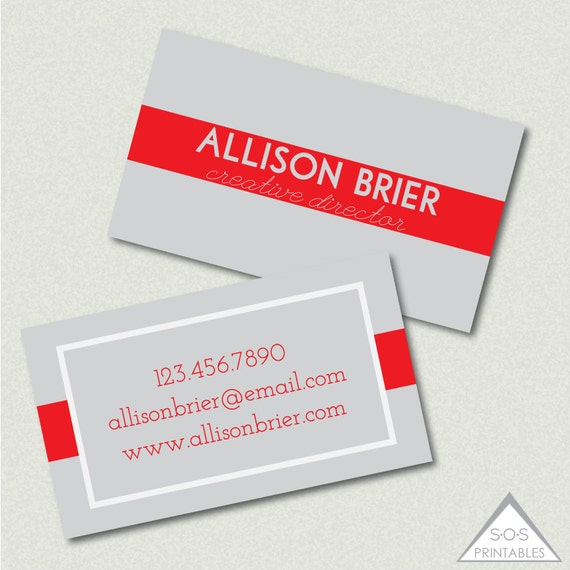 Printable Business Card Business Cards Simple Modern