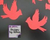 Red Birds diecuts - diecut snow birds - bird die cuts - Cardinal die cuts - Bird die cuts