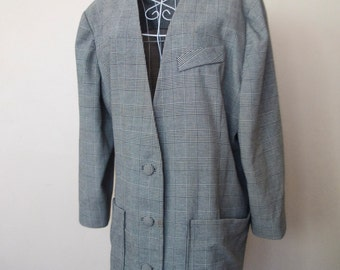 Vintage Monochrome Dogtooth Jacket Large