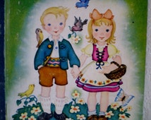"Vintage Little Golden Book Of ""Hansel and Gretel"" 1945 Edition **Epsteam"