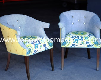 "ON SALE and In Stock - Upholstered button tufted accent chairs ""Suzanni Accent Chairs"" - Price per Chair"