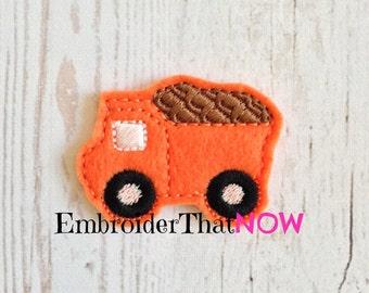 INSTANT DOWNLOAD Dump Truck Feltie Embroidery Design File