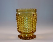 Hobnail Amber Glass Miniature Vase Hob Nail Vase Amber Glass Vase Mini Vase Collectible Vase Vintage Chic Home Decorative Vase