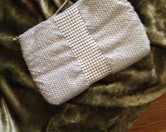 Vintage white metal mesh purse by Lynette