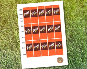Willy Wonka Mini Chocolate Bar Wrapper Printable - Instant Download