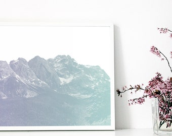 "ninotschka print ""FOGGY MOUNTAINS"" A2"
