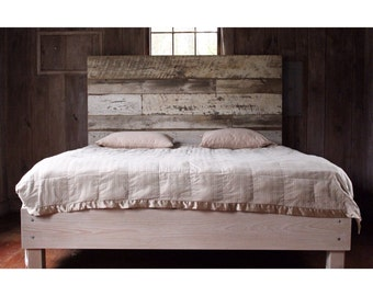 Reclaimed Wood Bed (White)