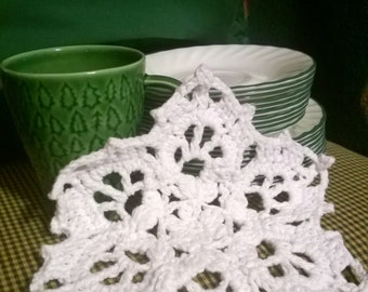 Snowflake Dishcloth - January