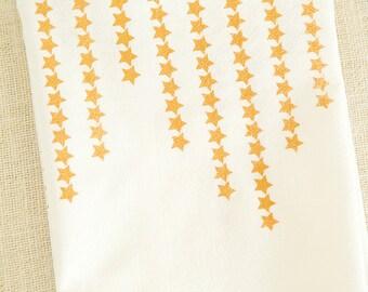 Stars, Gold Print, Tea Towel, Kitchen Towels, Hostess Gift, Dish Towels, Kitchen Decor, Screen Print, Screenprint, Gold Stars, Star Print