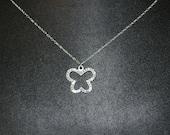 Swarovski Crystal Open Butterfly Charm Pendant Necklace