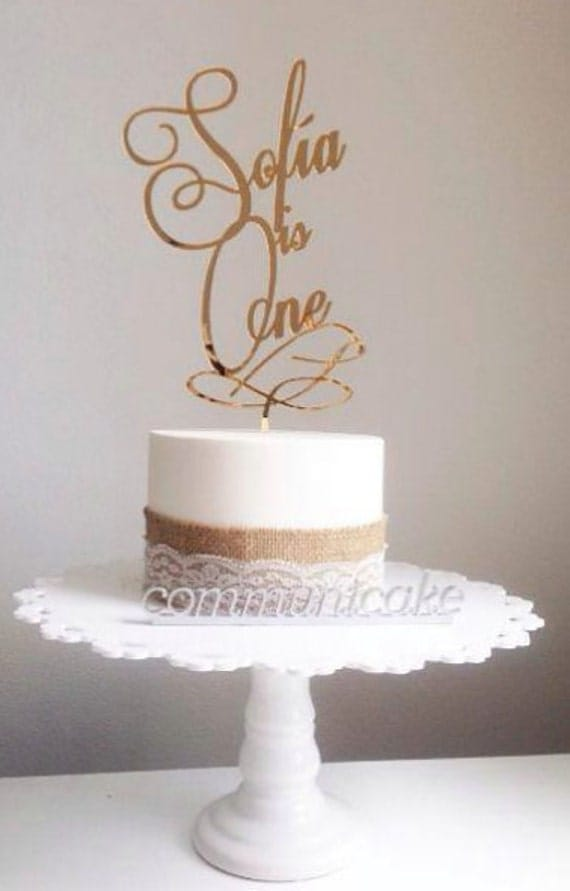 Sofia Is One Birthday One Cake Birthday Cake Topper Number