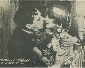 Maximov Holodnaya as gypsy antique Russian silent film star antique photo pc