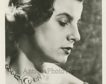 Germany opera singer Irmgard Seefried antique photo