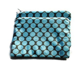 Reusable Snack Bags Set of 2 Amy Butler Blue Dot Zipper