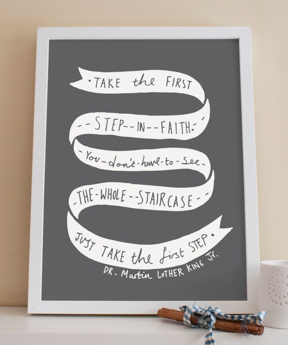A3 Dr Martin Luther King Jr Quote Print Home Decor