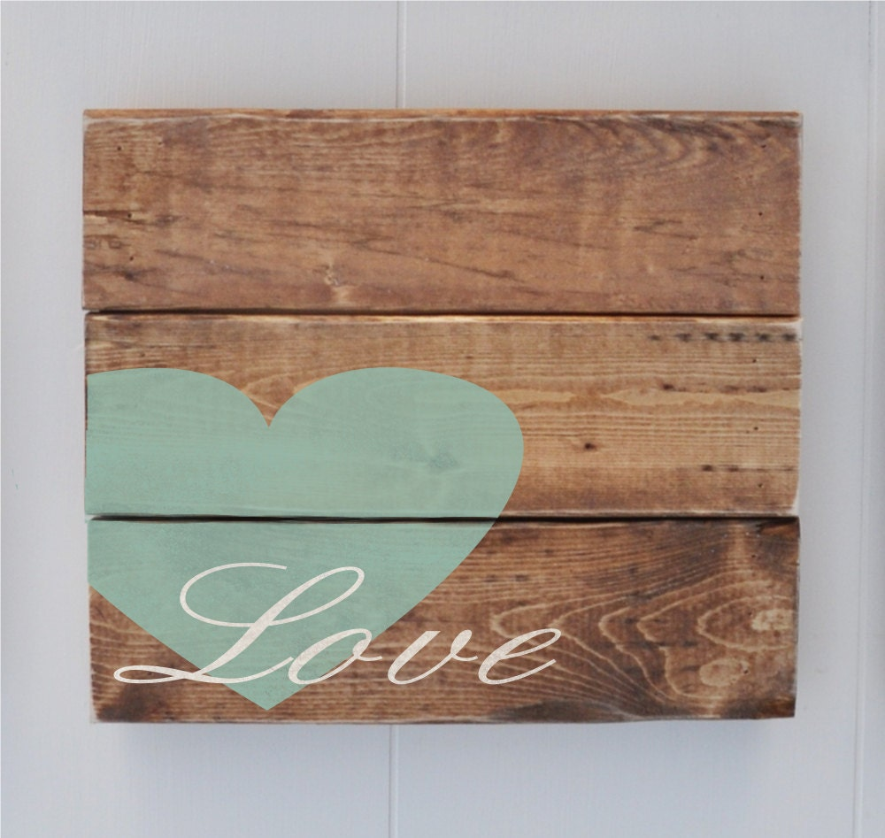 Wood Plank Love Sign Home Decor Sign Custom Rustic By Wavynavy
