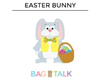 EASTER BUNNY Printable Paper Bag Puppet Cut Outs