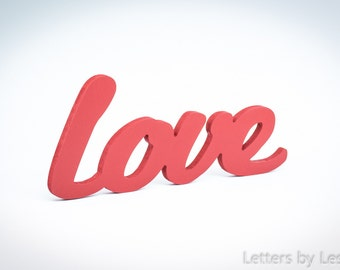 Love Wooden Wall Sign, Love Wall Decor.  Love Wall Letters