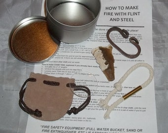 Deluxe Flint and Steel Fire Starting Kit