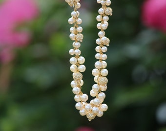 Swarovski crystal and Swarovski pearl necklace