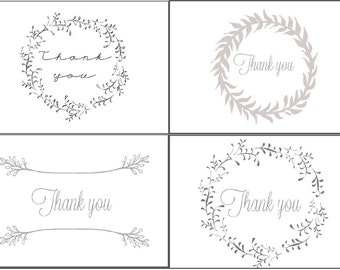 Blank Downloadable Thank You Cards