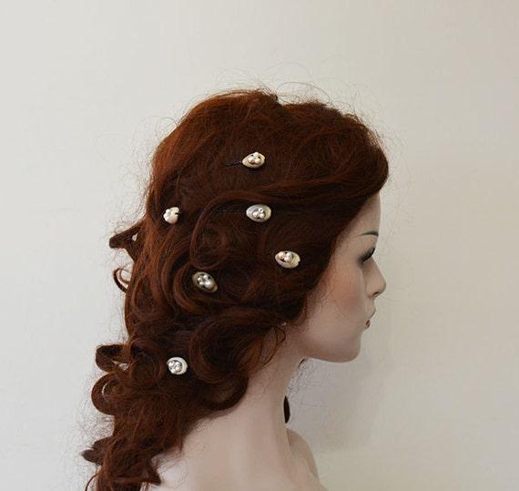 Sea shells wedding hair accessories beach wedding hair pins for Seashells for hair