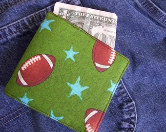 Boys Wallet, You Choose Fabric