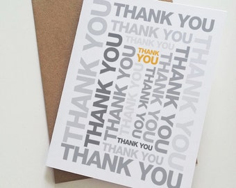 Thank You - Block Spiral - Card